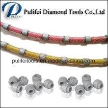 Scie à fil de diamant de outils de coupe de granit pour le profilage de carrière