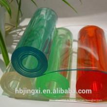 Rouleau de feuille transparente en PVC souple en cristal