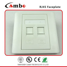 China Supplier High Quality Faceplate Fit for RJ45 keystone jack outlet plate.
