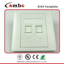 China Fornecedor de placa de alta qualidade de placa frontal para placa de tomada de chaveta RJ45.