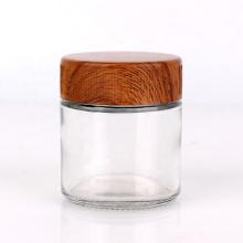 Custom design 90ml 3oz child proof glass spice storage  jar with plastic screw top lid
