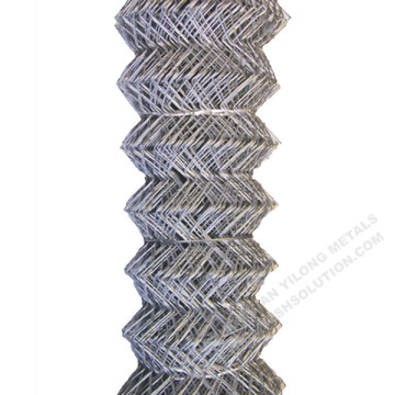 Galvanized Chain Link Fence Diamond Wire Mesh