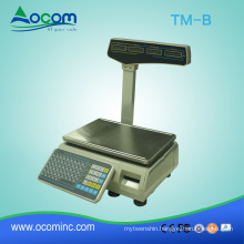 Heavy duty electronic POS cash register scale with printer