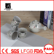 2015 новый дизайн Керамический чайник с росписью цветок