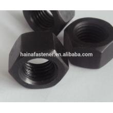 DIN 934 Черная шестигранная гайка M10, черная уплотнительная плита
