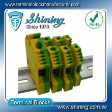TF-G2.5 2.5mm2 Ground Type Equal To Wago Gelb Grün Terminal Block