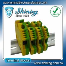 TF-G2.5 2.5mm2 Tipo de tierra Igual a Wago Amarillo Bloque de terminales de color verde