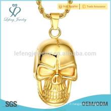 Dernier pendentif totem de style, pendentif en or 3 couches, pendentif en or 24 carats