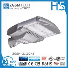 Réverbère bon marché de 100W LED avec des puces Philips Lumiled
