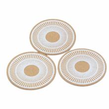 FQ marca mesa de cozinha mesa de madeira redonda mat copo de café