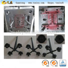 The plastic push button switch injection mould for stroller, baby carriage