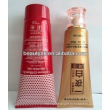 Tubo de plástico de color para crema cosmética con impresión de seda