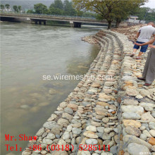 Hot Dipped Galvaniserad Riverbank Gabion Box