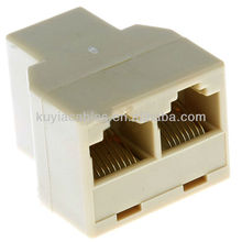 Conector del acoplador del divisor de red Ethernet RJ 45 Permita que dos equipos compartan puertos DSL, cable módem y Ethernet de alta velocidad