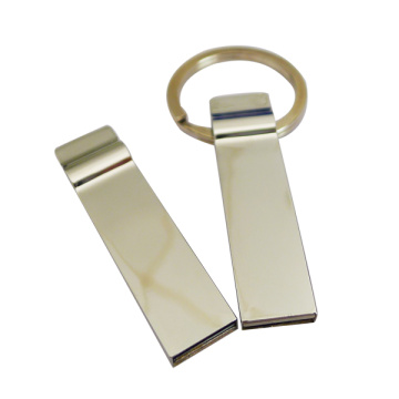 Mini pen drive in metallo con catena
