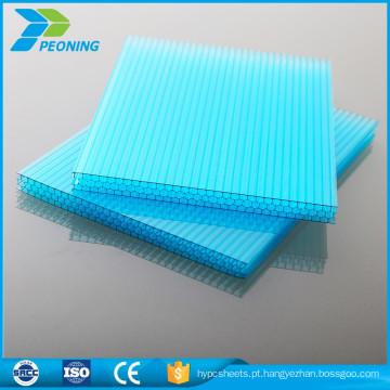Materiais de construção revestidos de baixa qualidade e alta qualidade, folhetos ocos opacos de policarbonato