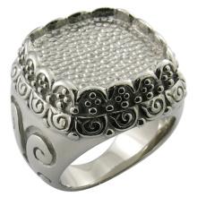 Anneau avec pierre, anneau en pierre de verre, gros anneaux en pierre