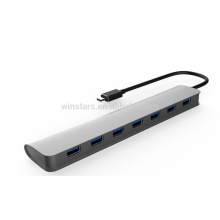 Super speed 5Gbps usb 3.0 7 port Type C hub with USB 3.1,support hot swapping