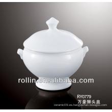 Tarro de tartal de porcelana para el restaurante