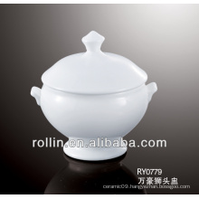 Porcelain tureen jar for restaurant