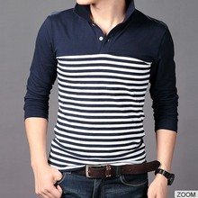 Hot Sell Men 100%Cotton Longsleeve Men Custom Polo Shirt