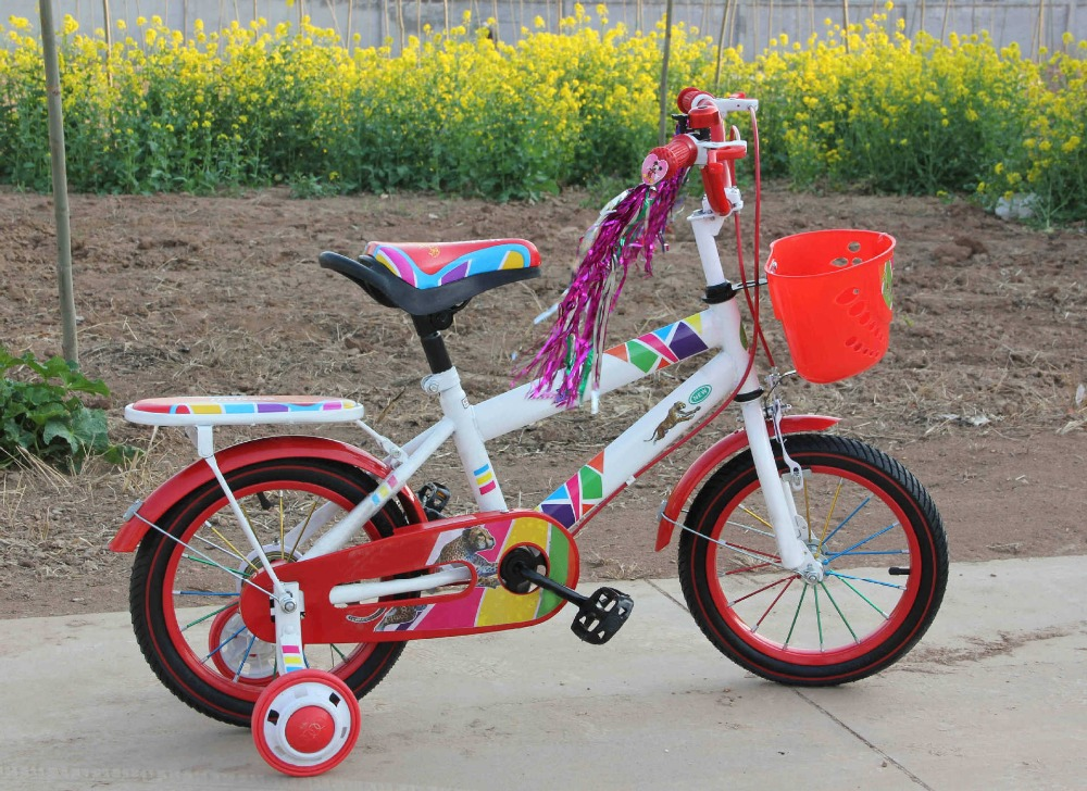 12 Inch 4 Wheel Aluminum Rim Children Bicycle