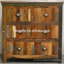 recycled wood drawer cabinet