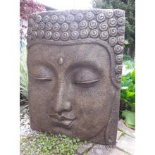 Sculpture murale en relief de Bouddha en bronze de style religieux indien