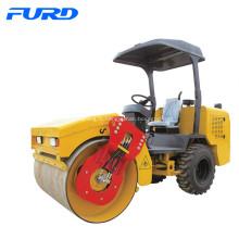 Rouleau de route de pneu en caoutchouc vibratoire hydraulique de 3 tonnes