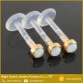 BioPlast 3mm or plaqué or synthétique Opal poussé Push-In Tragus Labret Piercing