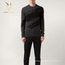 2017 Outono impressão Design Cashmere Sweater for Men