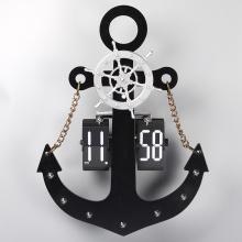 Huge Vintage Anchor Flip Clock