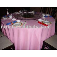 Toalha de mesa em poliéster, capa para mesa de hotel / banquete, roupa de mesa