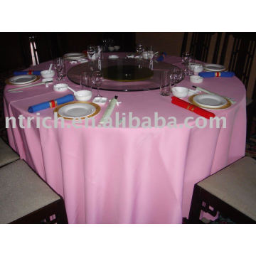 Polyester tablecloth, banquet/hotel table cover, table linen