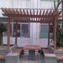 Camtpm Composite WPC Pergola in Leisure Area Gardening Design