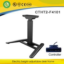 Móveis de escritório e armação de metal ajustável com motor elétrico e design moderno ergonômico stand up mesa