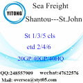 Shantou Port Sea Freight Shipping To St.John