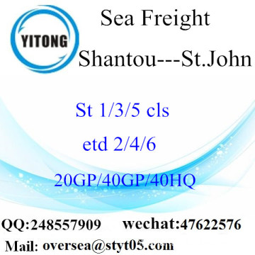 Shantou Port Sea Freight Shipping para St.John
