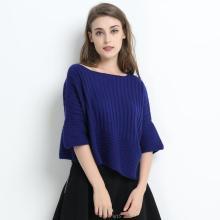 Frauen Blau Farbe Large Size Pure Cashmere Apprael