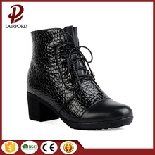 5cm genuine leather ankle winter anti-skidding boots