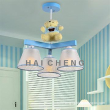 Blue cartoon lighting iron pendant light for children