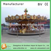 outdoor attraction children\'s carousel manufacturers