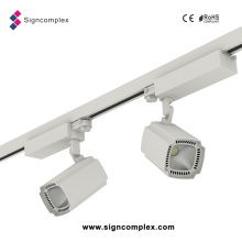 97lm/W COB 50W LED Museum Track Lighting with CE RoHS