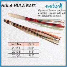 Hula Hula Приманка для ловли осьминогов на удочке (доступна светящаяся голова)
