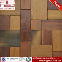 producto de diseño caliente mezclado mosaico de madera maciza para puerta