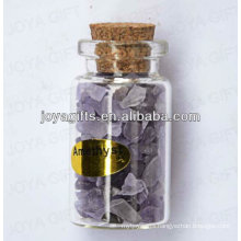 Amethyst chip Gemstone collection in bottle