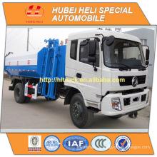 DONGFENG 4x2 12M3 висящий ковш мусоровоз 190hp горячая продажа для экспорта