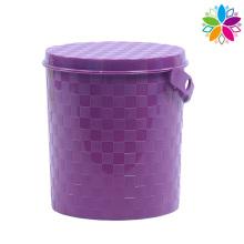 Redonda de diseño de armadura balde de almacenamiento de plástico con la manija (SLT003)