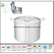 Deep Soup Pot 3 Layer Body Stockpot