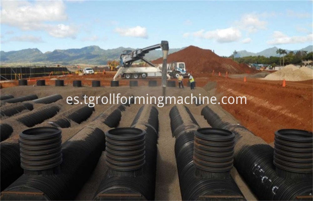 Drainage Culvert Corrugated Steel Pipe Machine